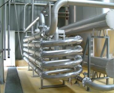 Fabrication et réalisation d'échangeur tube in tube en inox pour le refroidissement de la vendange