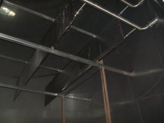 Drapeau inox en place dans cuve inox